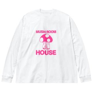 きのこの家 Big silhouette long sleeve T-shirts