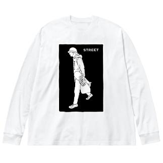BOY05 Big silhouette long sleeve T-shirts