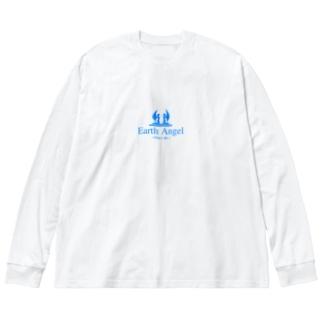 Earth Angel Big silhouette long sleeve T-shirts