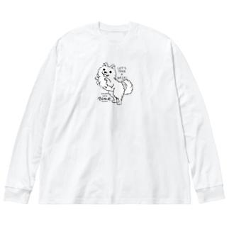 ポメラニアンお散歩WOW_A*M Big Long Sleeve T-shirt