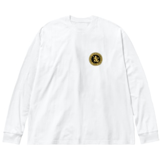 DEVGRU ライオン丸型2(ワンポイント) Big silhouette long sleeve T-shirts