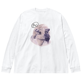 トテトテ-ミルキー Big silhouette long sleeve T-shirts