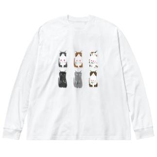 6匹の猫ちゃん Big Silhouette Long Sleeve T-Shirt