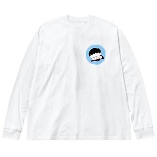 僕の大事なバット・モービル Big silhouette long sleeve T-shirts