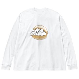 うさトッツォ(おしりver.) Big silhouette long sleeve T-shirts
