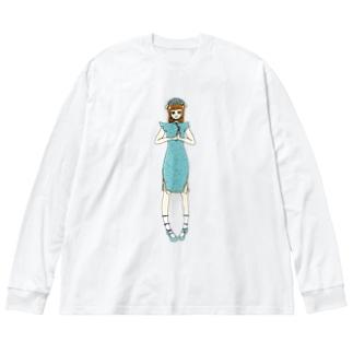 かえで(チャイナドレス) Big silhouette long sleeve T-shirts