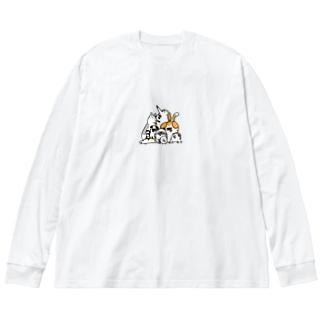 犬がいっぱい Big Long Sleeve T-shirt