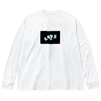 反転FG君 Big silhouette long sleeve T-shirts