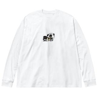 パグがいっぱい Big Long Sleeve T-shirt