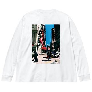 Boston Big silhouette long sleeve T-shirts