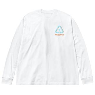 またまたのRe:sauna Big Silhouette Long Sleeve T-Shirt