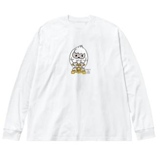 はいきんりょくチェック*M配置 Big Long Sleeve T-shirt
