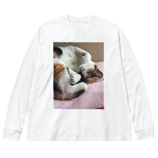 愛猫モモ Big Silhouette Long Sleeve T-Shirt