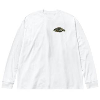 snaggedgorillaのホホワキュウセン Big Silhouette Long Sleeve T-Shirt