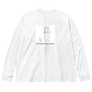 ハダカの王様? Big Silhouette Long Sleeve T-Shirt