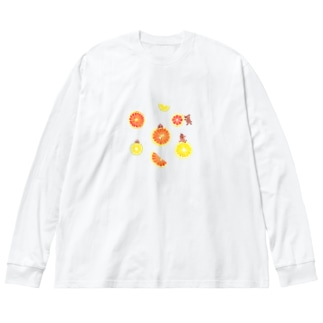 citrus fruits Big silhouette long sleeve T-shirts