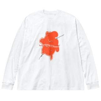 【世界に1着だけ】Where is my Heart? Big Silhouette Long Sleeve T-Shirt