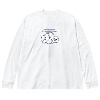 らんらんらんらんポメラニアン*M配置 Big Long Sleeve T-shirt