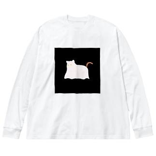 おばけねこ Big Silhouette Long Sleeve T-Shirt