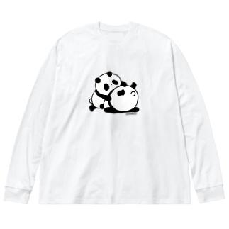 おはずかし〜 Big Silhouette Long Sleeve T-Shirt