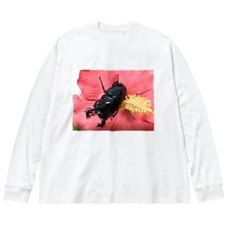 クワガタ ☆タランドゥス☆3 Big Silhouette Long Sleeve T-Shirt