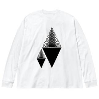 吉原柄 β Big Silhouette Long Sleeve T-Shirt