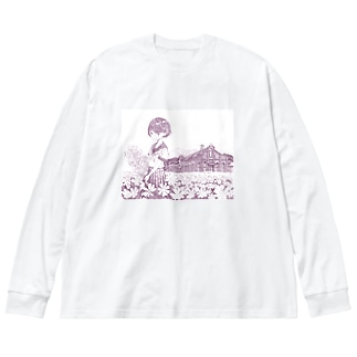 丸山変電所 Big Silhouette Long Sleeve T-Shirt