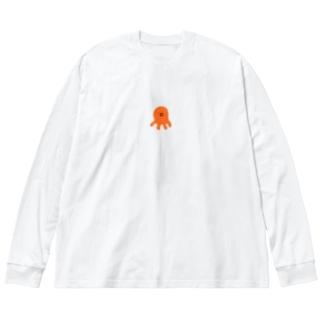 たこさん Big Silhouette Long Sleeve T-Shirt