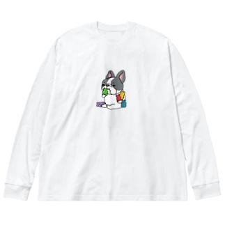 ガミィベア食べるフレブルちゃん。パイドちゃん。 Big Silhouette Long Sleeve T-Shirt