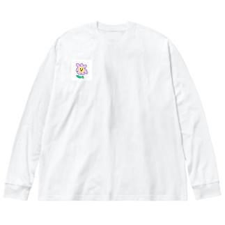 お洒落なむらさきお花さん Big silhouette long sleeve T-shirts
