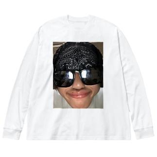 いぶきくん Big silhouette long sleeve T-shirts