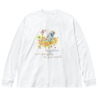 cyotan様 Big silhouette long sleeve T-shirts