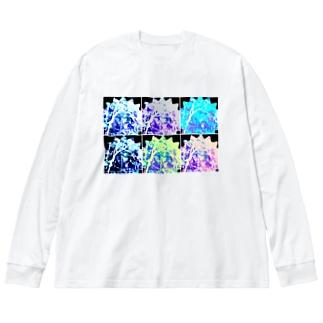 君の瞳が② Big silhouette long sleeve T-shirts