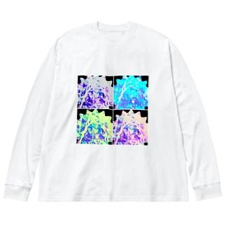 君の瞳が③ Big silhouette long sleeve T-shirts