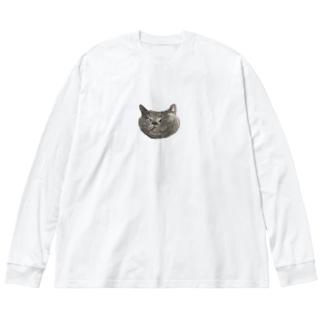 ふゆちゃん Big silhouette long sleeve T-shirts