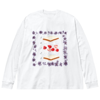 フルーツサンドの作り方 Big Silhouette Long Sleeve T-Shirt
