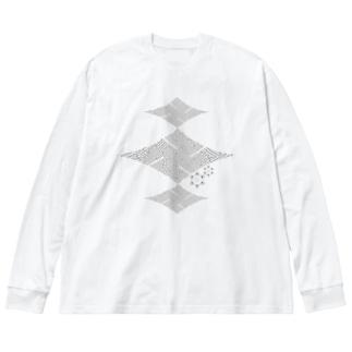 楼卍(ロマン)の灰 Big Silhouette Long Sleeve T-Shirt