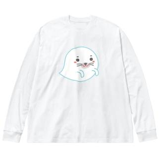 オバケあざらし Big Silhouette Long Sleeve T-Shirt