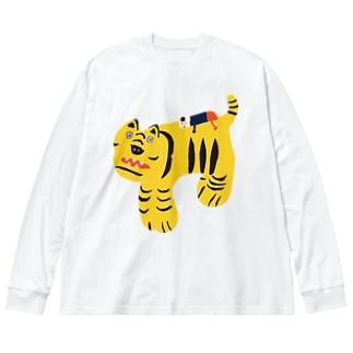 Yusuke このり虎 Big Silhouette Long Sleeve T-Shirt