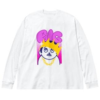 BIG ビッグ 232 Big Silhouette Long Sleeve T-Shirt
