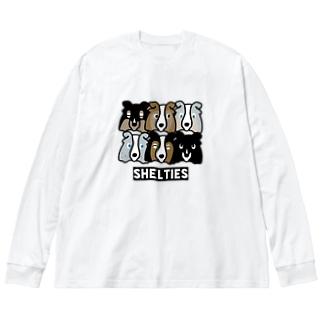 シェルティーず Big Silhouette Long Sleeve T-Shirt