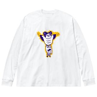 カンムリクマタカ Big silhouette long sleeve T-shirts