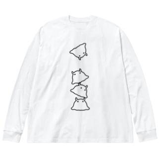 メンダコ Big silhouette long sleeve T-shirts