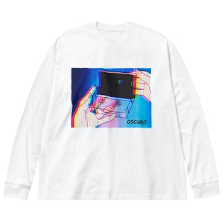Cassette tape Big silhouette long sleeve T-shirts