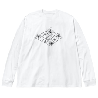oniwa Big silhouette long sleeve T-shirts
