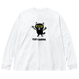 MEOW!! Y ② Big silhouette long sleeve T-shirts