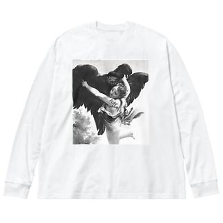 ART KIDNAPPER ② Big silhouette long sleeve T-shirts