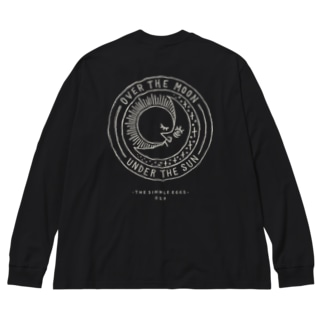 月と太陽 Big silhouette long sleeve T-shirts