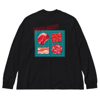 スーパーマーケット:肉 Big silhouette long sleeve T-shirts