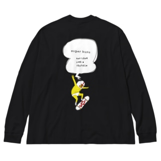 スケボー Big silhouette long sleeve T-shirts